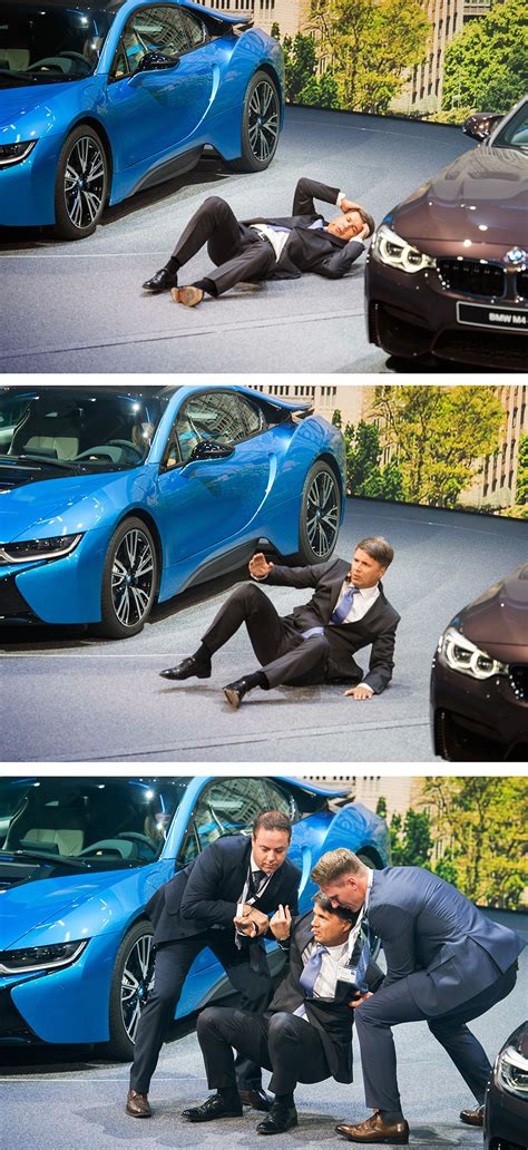 bmw ceo faint bmw boss harald krueger collapses on stage during