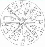 Sundial Template Boyama Coloring Pages Mandala Templates sketch template