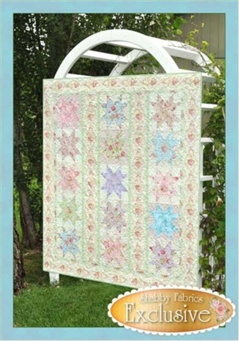 shabby fabrics patterns stars in the garden quilt pattern 66x74 by shabby fabrics