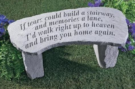 tears  build  stairway memorial garden benches