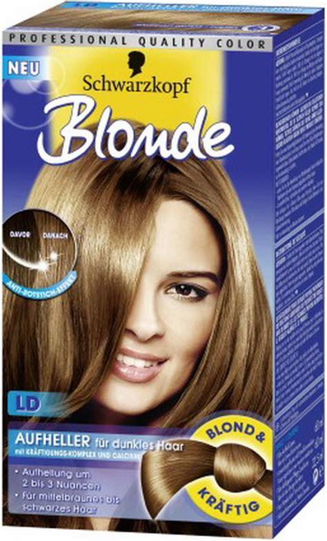 braune haare blond faerben