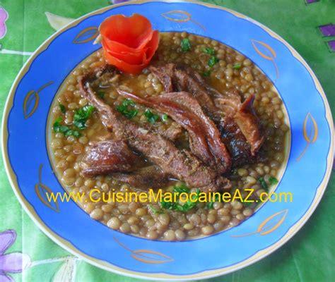 cuisine de a à z entrées lentilles à la viande séchée la cuisine marocaine de a à z