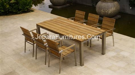 teak stainless steel furniture premium outdoor furniture