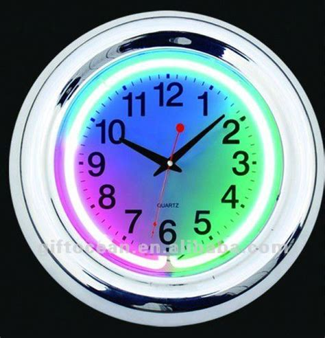 light up wall clocks warisan lighting