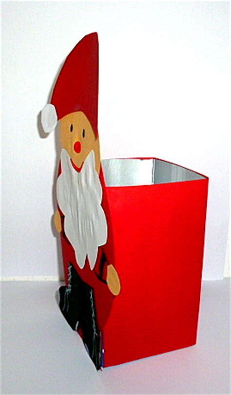 nikolaus mit sack aus milchtuete weihnachten basteln