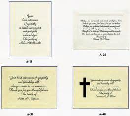 memorial programs sympathy acknowledgement and thank you cards with custom