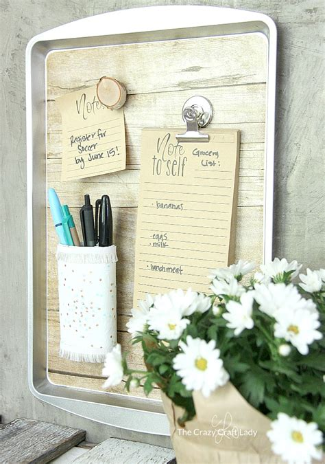 diy magnetic organizer  dollar store cookie sheet