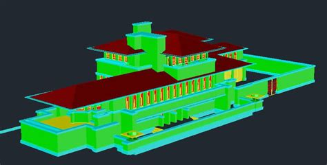 robie house frank lloyd wright   dwg full project