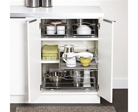 pull out cabinet organizer simplehuman 14 inch pull out cabinet organizer