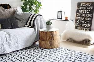 Tree trunk side table STYLE SPACE AND STUFF