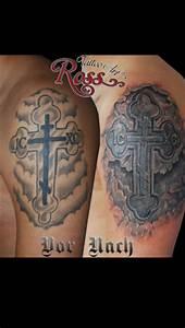 Kreuz Tattoo Oberarm : tomminho45 kreuz vorher nacher tattoos von tattoo ~ Frokenaadalensverden.com Haus und Dekorationen