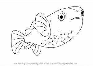 Learn How to Draw a Porcupinefish (Fishes) Step by Step ...