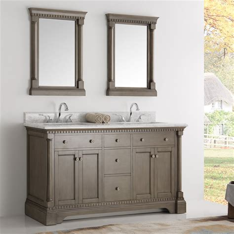 fresca kingston  antique silver double sink traditional