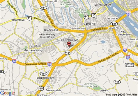 map of econo lodge mechanicsburg mechanicsburg