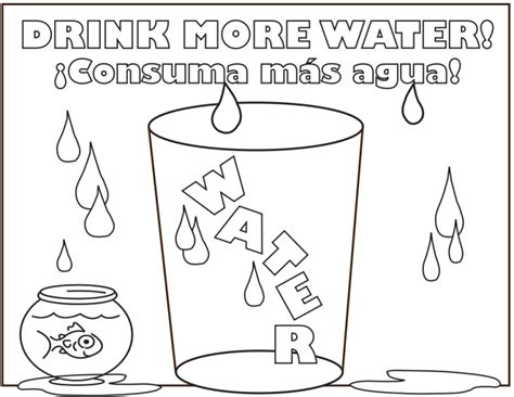 drinkmorewater coloring page   creative