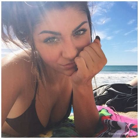 andrea russett sexy bikini russet beach young youtubers suit