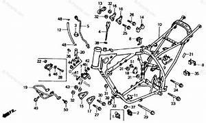 Honda Motorcycle 1987 Oem Parts Diagram For Frame