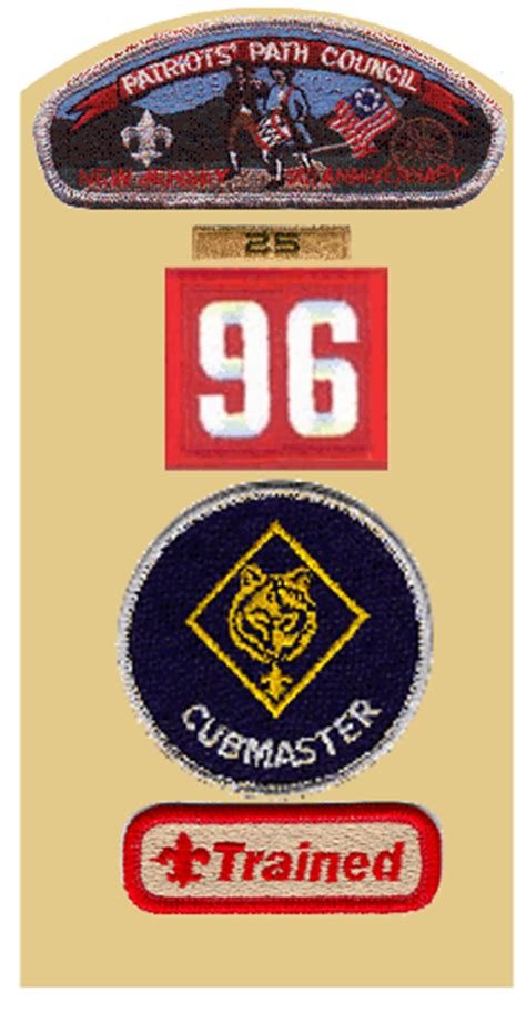 Cub Scout Committee Chair Patch Placement by Cub Scout Leader Guide Left Sleeve