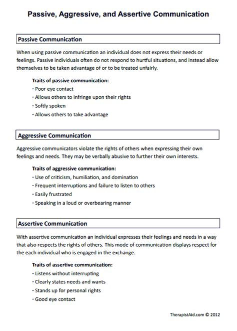 Passive, Aggressive, And Assertive Communication Preview  Social Work  Pinterest Assertive
