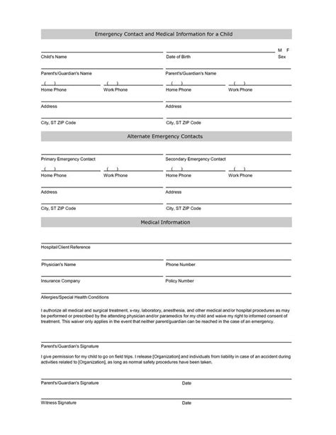 student contact form template free student information sheet template student