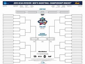Get ready: Your blank 68-team NCAA tournament bracket