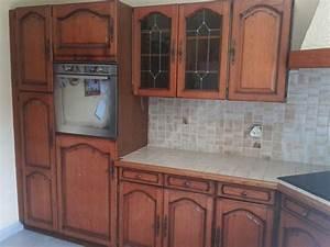 meuble cuisine chene massif clasf With meuble de cuisine rustique 11 meuble entree chene massif de france 2 portes 5 tiroirs