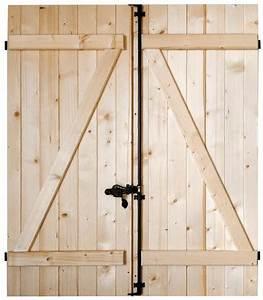Volet Bois Brico Depot : volet battant en bois de sapin du nord pic a h 75 cm ~ Dallasstarsshop.com Idées de Décoration