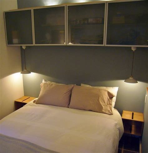 contemporary bedroom  ikea storage bins screwed