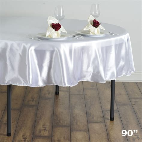 wholesale table linens for weddings 15 pcs 90 quot satin round tablecloths wedding table linens