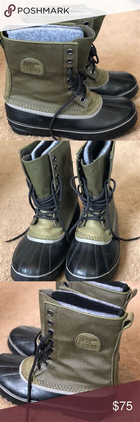 boots sorel waterproof canvas 1964 premium poshmark zero