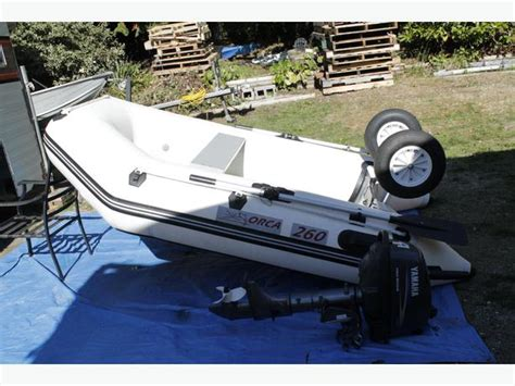 Inflatable Boats Vernon Bc by 2009 Orca 260 Inflatable Boat Tender Outside Comox Valley