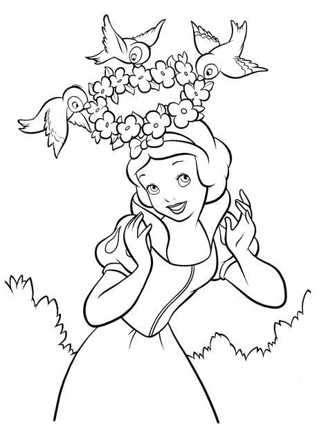 snow white  coloringcolorcom