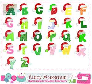Christmas Alphabet Letter Designs