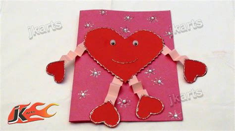 make a s day card diy how to make valentine s day greeting card style 4 jk arts 132 youtube