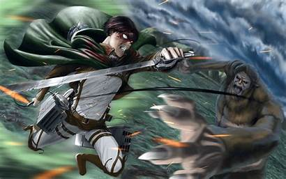Titan Beast Levi Attack Ackerman Anime Wallpapers