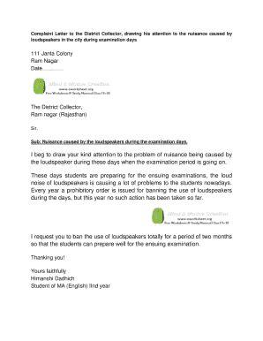 editable letter  nuisance  loudspeaker fill print