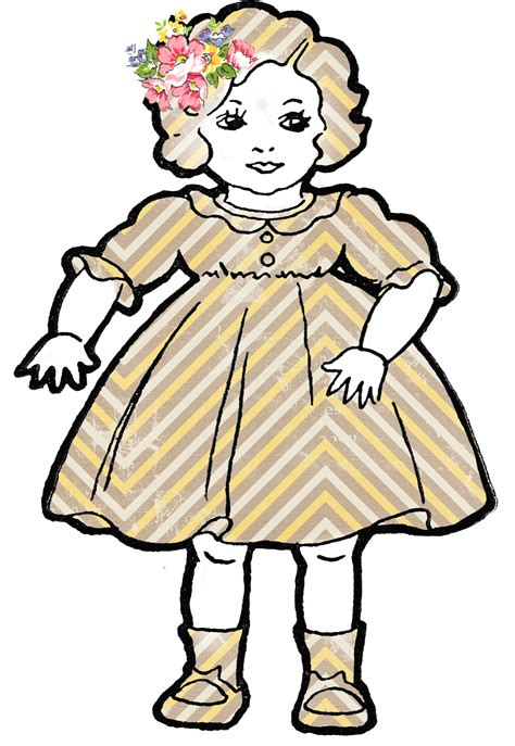 adorable altered art shabby dolls vintage clip art