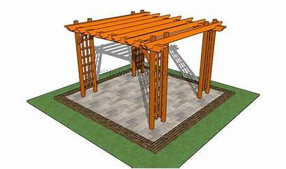 Pergola Build Patio Arbor Garden Plans Step
