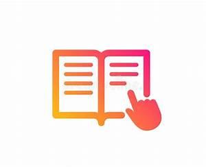 Instruction Book Icon  Flat Style Stock Illustration