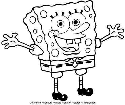 disegni da colorare e stare spongebob disegno di spongebob con le braccia aperte da colorare