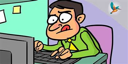 Hard Busy Animated Office Typing Rage Cricket