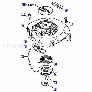 Stihl Hs 81 R Petrol Hedgetrimmer  Hs81r  Parts Diagram