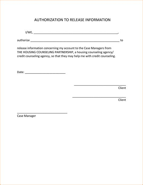 authorization letter  release information