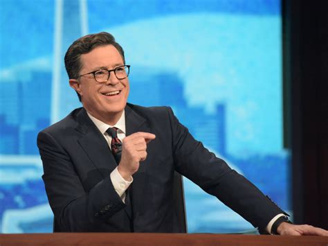 late night hosts tv colbert stephen cbs win were they monologue laughter settles therapy studio trump audience entertainment began asking