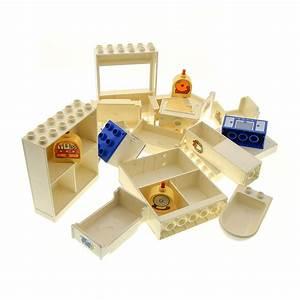B Ware Möbel : 20 x lego duplo m bel b ware set abgenutzt schrank bett creme weiss regal k hlschrank hell blau ~ Watch28wear.com Haus und Dekorationen