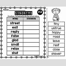 Synonyms Worksheets By Teaching Second Grade  Teachers Pay Teachers