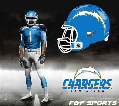 San Diego Chargers New Uniforms