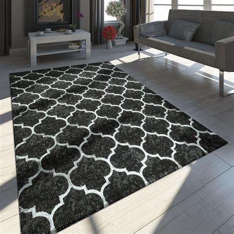 teppich schwarz weiss modern teppich marokkanisches muster schwarz teppich de