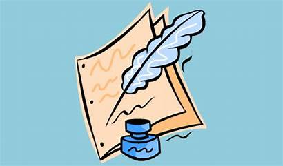 Writing Clip Creative Clipart Author Cliparts Draft