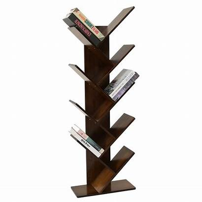 Shelf Bookshelf Tree Bookcase Display Bamboo Books
